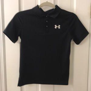 Under Armour big boys heat gear golf shirt